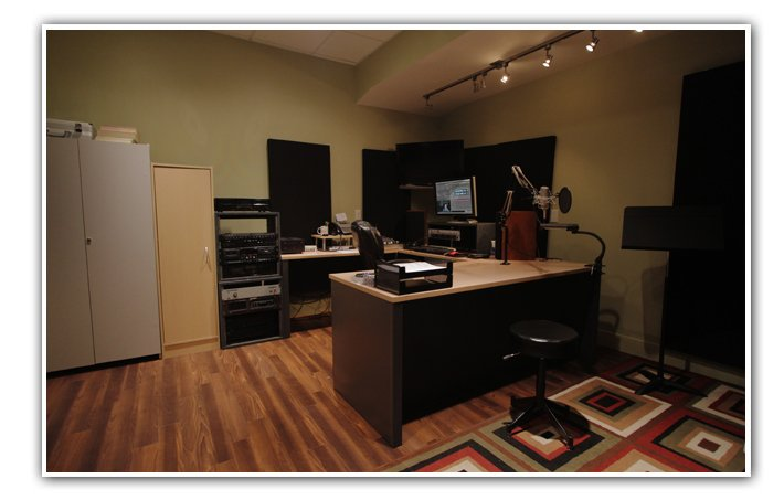 Our Voiceover and commercial Production Studio